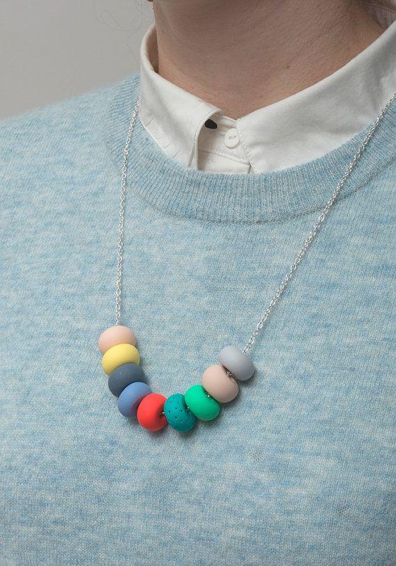 heidi handmade bead necklace di MadeByEmilyGreen su Etsy