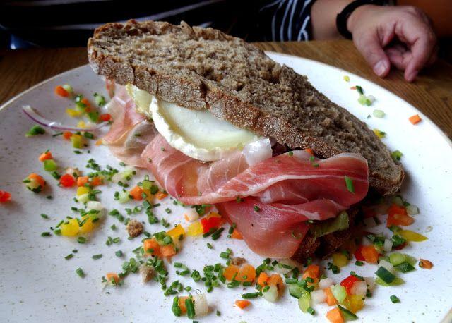 Lunch sandwich at the Oudaen Restaurant on the Oudegracht