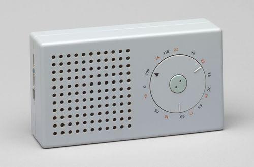 "Pocket Radio (model T3)  Dieter Rams (German, born 1932) and Ulm Hochschule für Gestaltung (German, established 1953)    1958. Plastic casing, 3 1/4 x 6 x 1 5/8"" (8.3 x 15.2 x 4.1 cm). Manufactured by Braun AG, Frankfurt, Germany, est. 1921. Gift of the manufacturer"