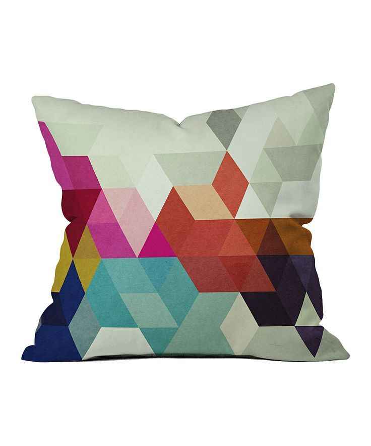 cuscino geometrico #pillow #geometry #colours #white #interiordesign