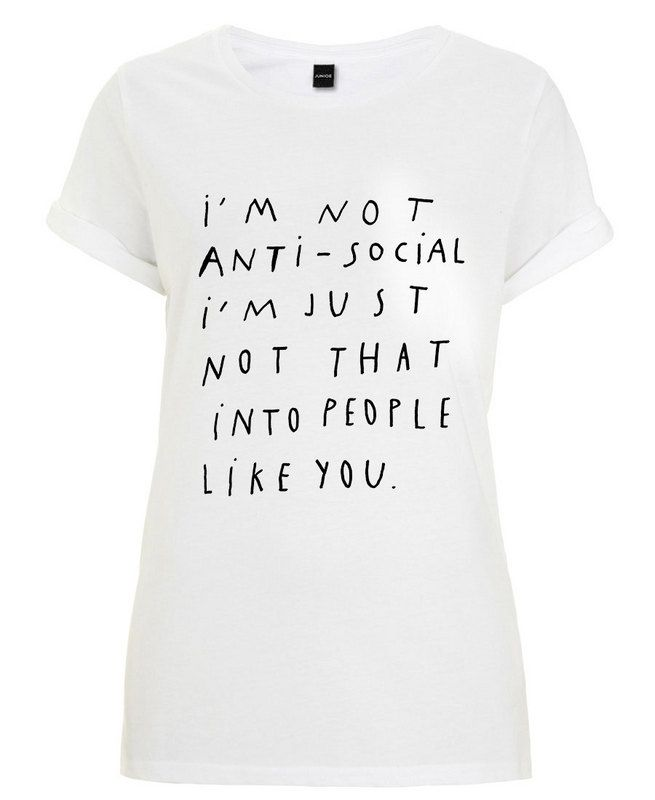 Anti-social as Women's T-Shirt by Wasted Rita | JUNIQE