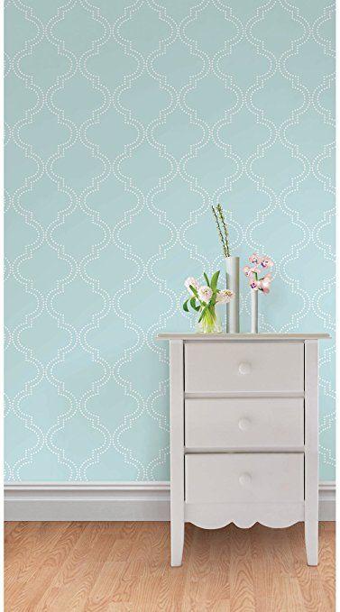 Wall Pops NU1424 Blue Quatrefoil Peel and Stick Wallpaper ...