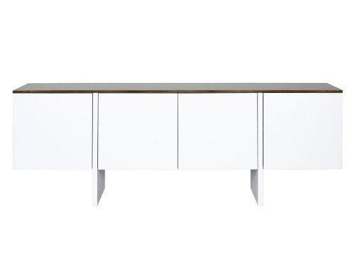 EDGE Sideboard 200 Temahome, Farbe:Weiß mit Nussbaum Siehe mehr unter http://www.woonio.de/p/edge-sideboard-200-temahome-farbeweiss-mit-nussbaum/