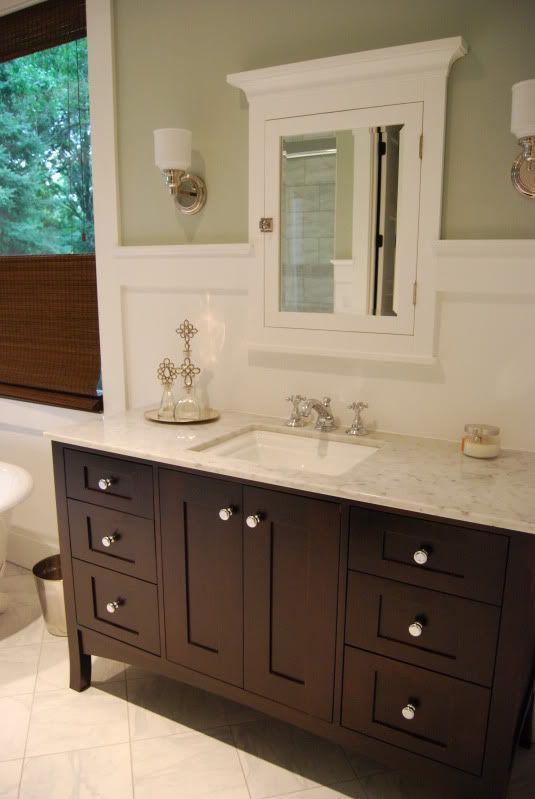 25 best ideas about dark wood bathroom on pinterest - Furniture looking bathroom vanities ...