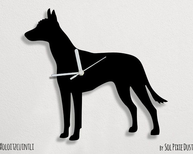 Wall Clock XOLOITZUINTLE DOG by SolPixieDust