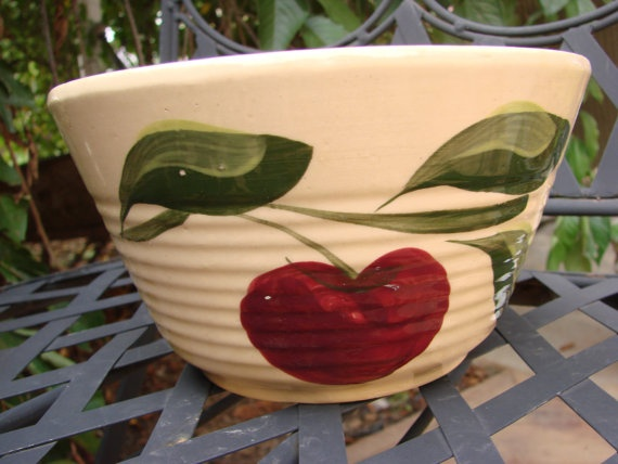 122 Best Images About Vintage Watt Apple Dishes On