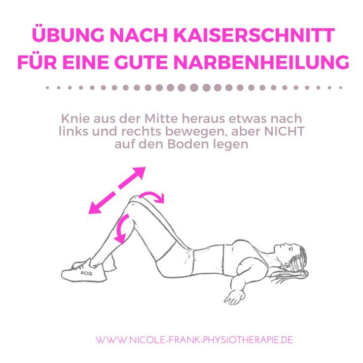 Übung nach Kaiserschnitt. Übung zur Rückbildung und Mobilisation der Narbe.