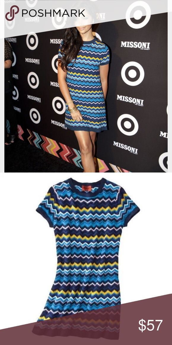 Missoni for Target navy chevron dress Worn once, no damage, snags or stains.  Hard to find size XL! Missoni Dresses Mini
