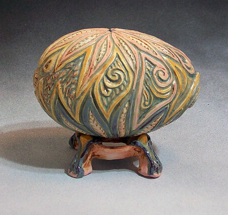 pinch pots - carved decoration