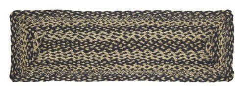 """Navy and Tan Jute Stair Tread Rectanglar 8.5x27"""" by Victorian Heart. $11.20. Product measurements and additional details listed in title and/or Product Description below.. Extensive line of matching items and accessories available! (Search by Collection name). High end quality and workmanship!. See Product Description below for more details!. All cloth items in our collections are 100% preshrunk cotton. All braided items (like rugs, baskets, etc.) are 100% jute. 100% Jute"""