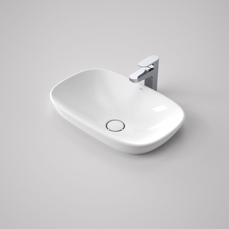 Contura 530 Inset Basin - Organic and minimalist. http://www.caroma.com.au/bathrooms/basins/contura/contura-530-inset-basin