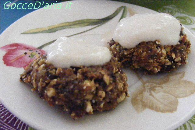 tortine di carota con panna di cocco