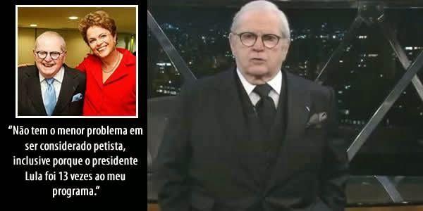 Por causa do apoio dado à presidente Dilma Rousseff, Jô Soares deverá perder programa na Rede Globo   Blog de Francisco Castro