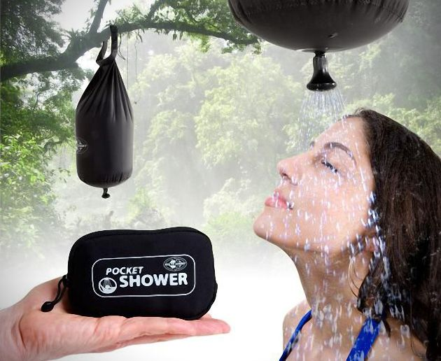 Sea to Summit Pocket Shower - Bring your shower with you in your pocket. GetdatGadget.com