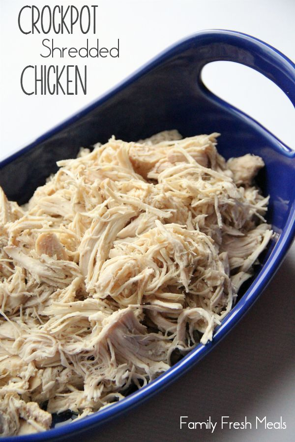 Easy Crockpot Shredded Chicken Recipe ... I will still use my KA Mixer to shred the chicken ~ skip the two forks, trust me.