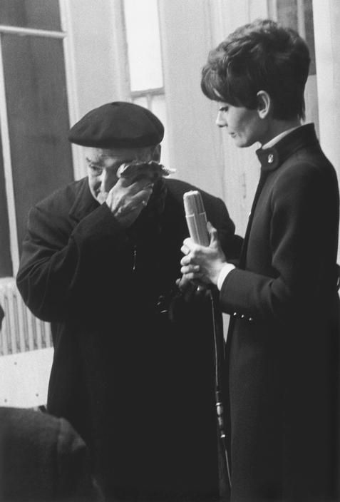 Always a humanitarian: Audrey Hepburn interviewing a Moroccan-Jewish refugee in Paris (having fled from anti-semitism), 1968. Photo: Eve Arnold.