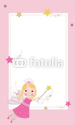 Peri Kızı Vektör Tasarımlarım * Cute fairy frame vector