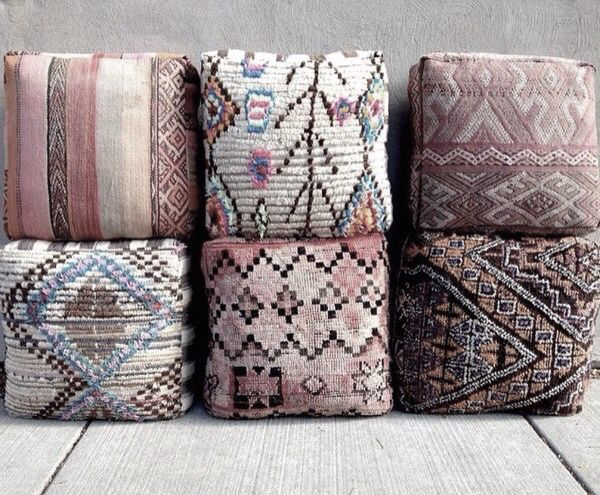 tapestry cushions ~ soft colour pallet