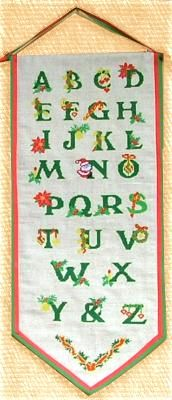 Advanced Embroidery Designs. Christmas ABC Wall Hanging