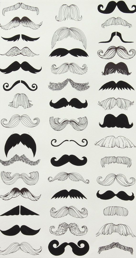 Alexander Henry Fabric Where's My 'Stache Natural By the Yard