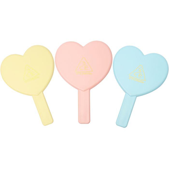 LOVE 3CE HEART HAND MIRROR | STYLENANDA