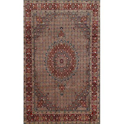 Bloomsbury Market Sarthe Traditional Orange Ivory Black Area Rug