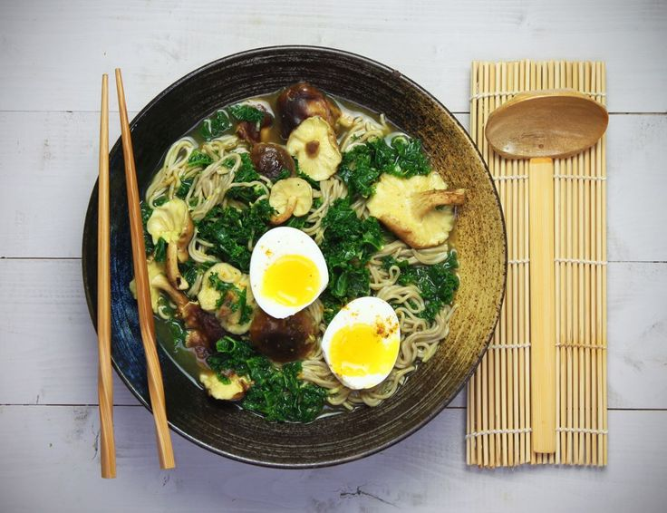 Curried Noodle Soup with Shiitake & Kale Recipe | Abel & Cole