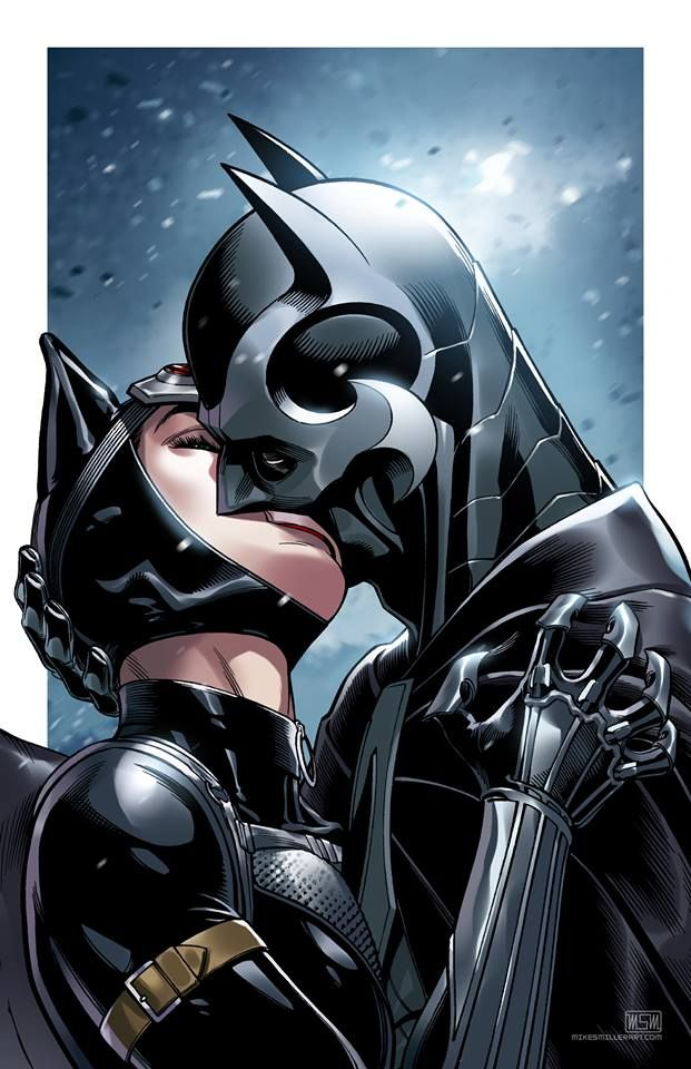 Batman and Catwoman by Mark S. Miller *