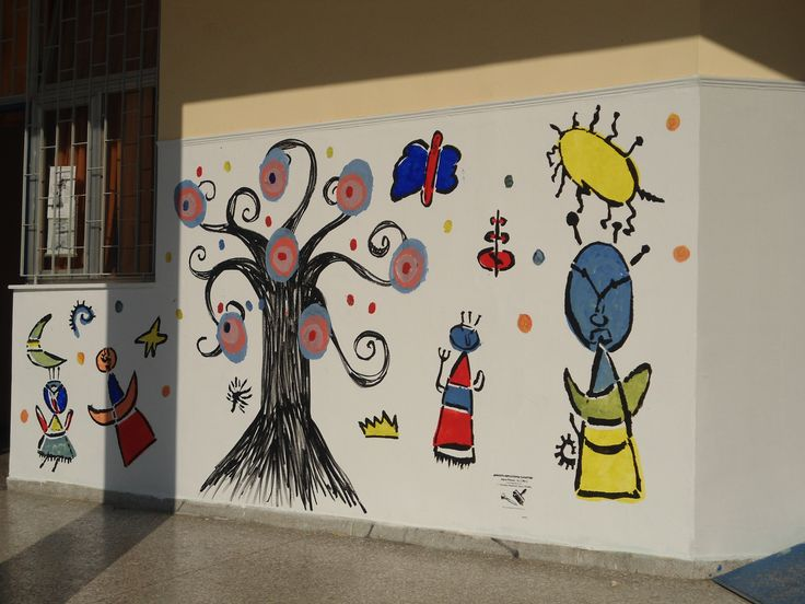 Miro stensil on wall