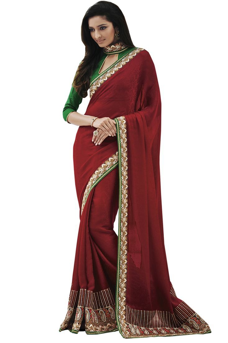 Elegant Embroidered Designer Saree