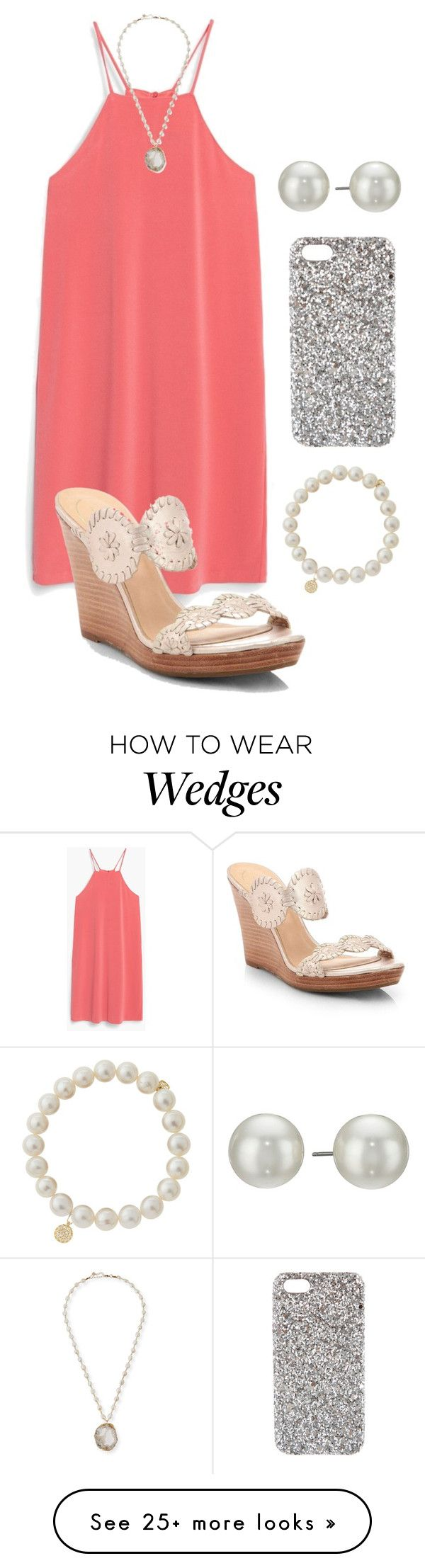 """Family dinner "" by madelyn-abigail on Polyvore featuring MANGO, Jack Rogers, NAKAMOL, Kenneth Jay Lane, Yves Saint Laurent and Sydney Evan"