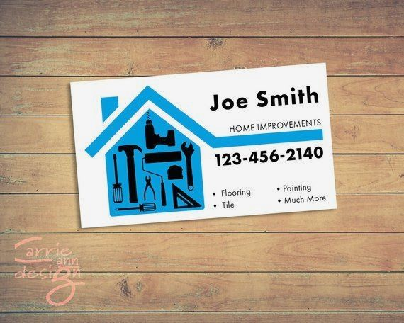 Home Improvements Handyman Business Cards Print Download Etsy In 2021 Handyman Business Home Improvement Loans Printing Business Cards