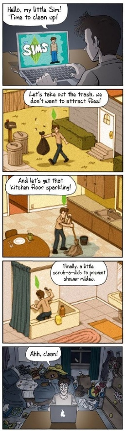 Housecleaning  Sims vs Reality.