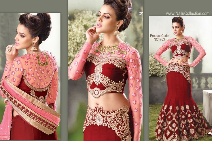 Red and Pink Combo #Lehenga #Choli - Latest from #Zoya designs is available online at Nalllu Collection