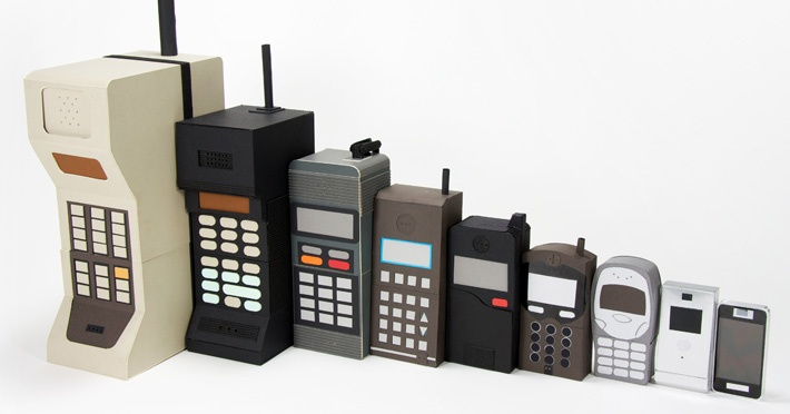 Evolution of the Cell Phone. Remember how big they used to be?