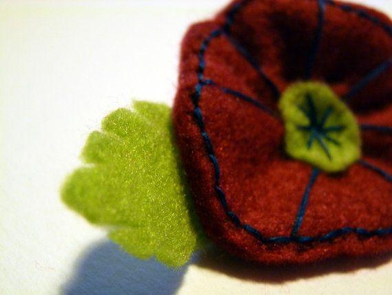 Spring is Here  Poppy Style Handmade Brooch  by FudgeandPoppy, £5.00
