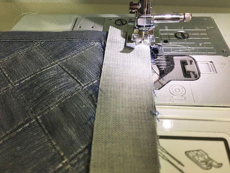 Учимся шить. Карман с плетеным декором.