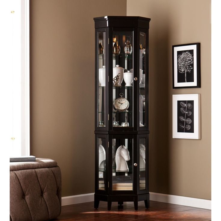 Southern Enterprises Essex Curio   Black   Elegantly Display Collectables  In This Southern Enterprises Essex Curio   Black . This Space Saving  Lighted ...