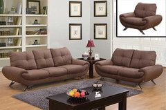 3PC Taupe Microfiber Sofa Set ...#MorningFurniture #Online #Store #Mississauga #Ontario #Canada