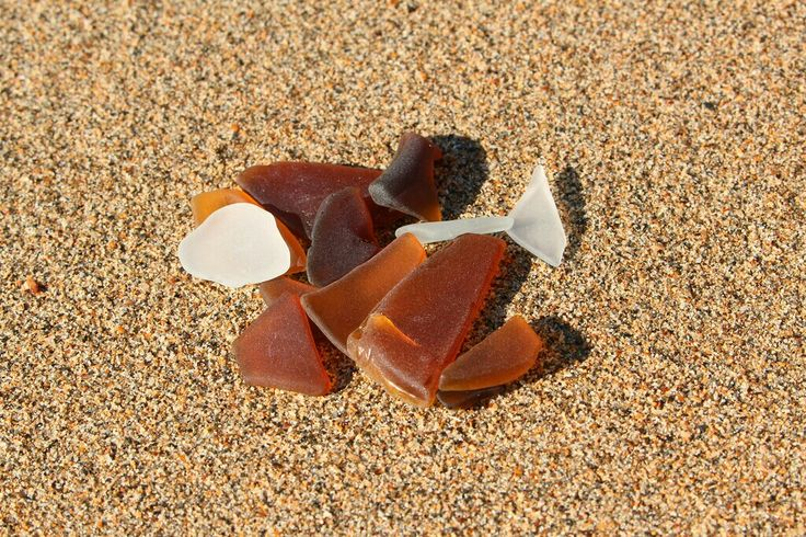 Seaglass finds, Hervey Bay, QLD.