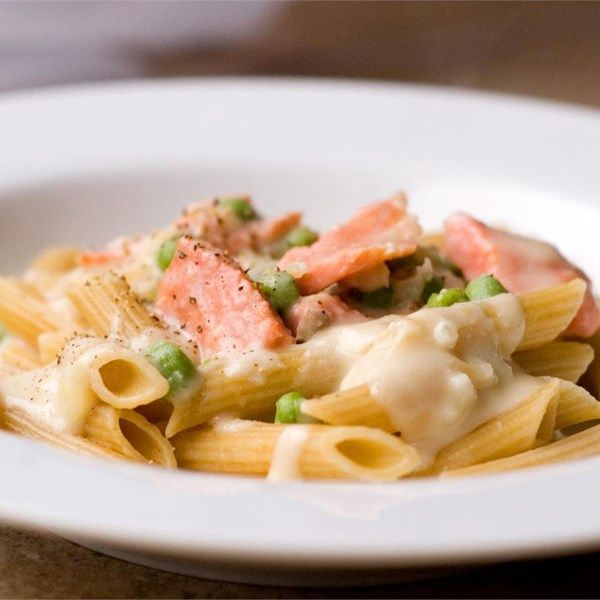 """Creamy Smoked Salmon Pasta 