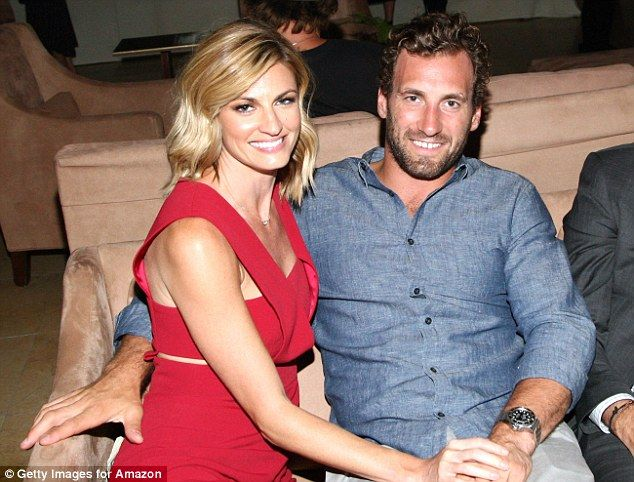 Date night delight: Erin was joined by her partner, hockey player Jarret Stoll...