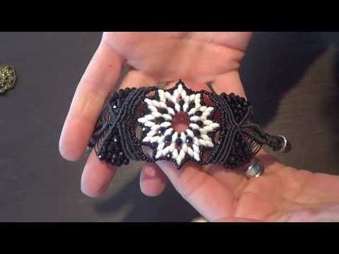 TUTORIAL bracciale con modulo bucaneve e macramè parte 1 - YouTube