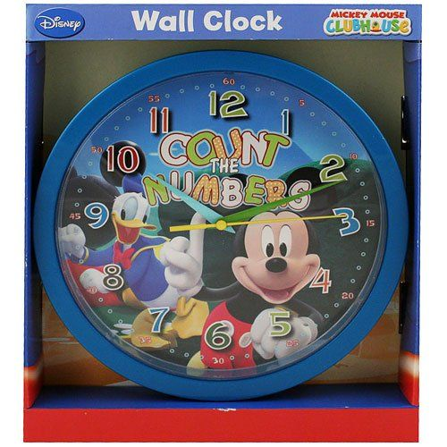 """Disney Mickey Mouse Clubhouse """"Count The Numbers"""" Plastic Wall Clock Disney,http://www.amazon.com/dp/B005EY1JI4/ref=cm_sw_r_pi_dp_YrKRsb1PESEPA0V5"""
