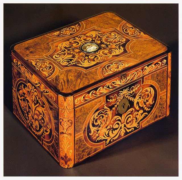 18th century French marquetry box: