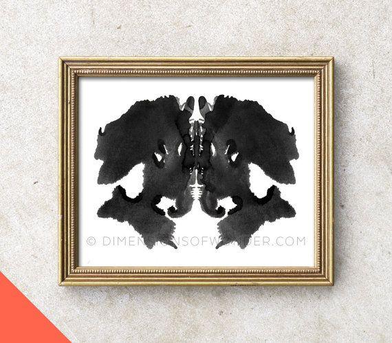 Printable Art INSTANT DOWNLOAD Rorschach ink blot Rorschach