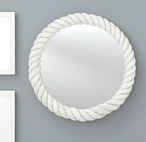 White Rope Mirror On