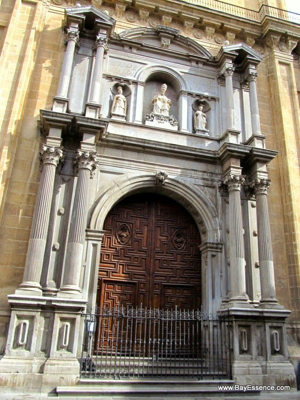 Catholic church and former mosque with the original Islamic detailed wooden doors | Granada, Spain | www.bayessence.com