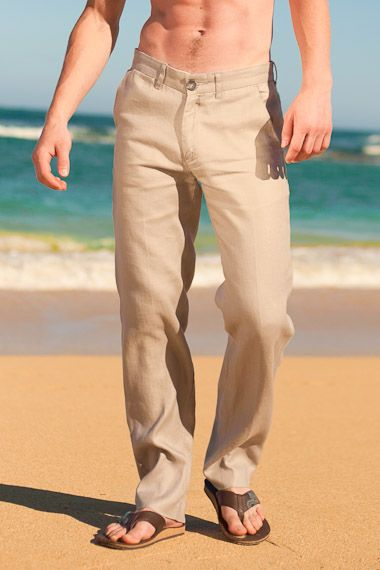 Linen Madrid Pant - Men's Linen Pants, Drawstring, Beach Wedding - Island Importer