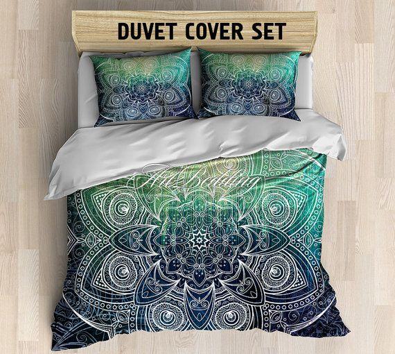 Bohemian bedding, Bohemian queen / king / full / twin / twin XL duvet cover, mandala duvet cover, Boho duvet cover set, bohemian bedding